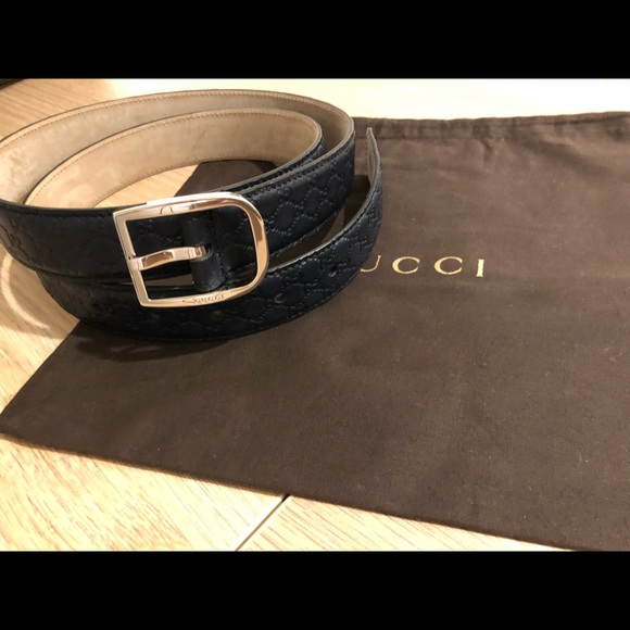 c340d5cbe4f Brand New Authentic GUCCI Navy Blue Men s Belt. M 5c83361a2beb798aeee6186c.  Other Accessories ...